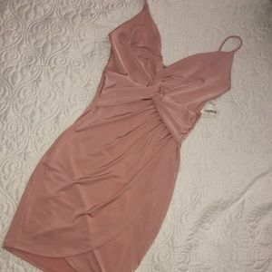 Dresses & Skirts - Light Pink Mini Wrap Dress